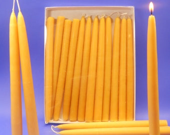 """Beeswax Tapers, 50 Pair of 3/4"""" x 10"""" Bees Wax Candle Tapers, Bulk Lot of 100 Candles, Wedding Candles, Candles For Weddings, Dining Candles"""