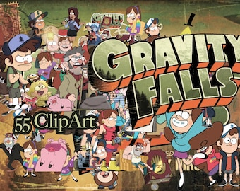55 Gravity Falls ClipArt - Digital , PNG, image, picture,  oil painting, drawing,llustration, art , birthday,handicraft