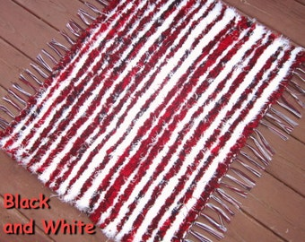 Handwoven -  What is Black and White and Red All Over - 25x32