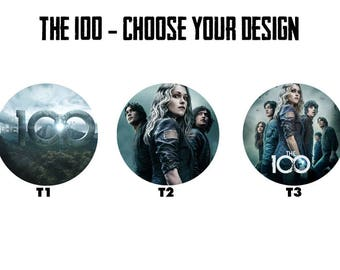 "THE 100 2.25"" Button Style Pins, Mirrors, Magnets, Bottle Openers & Keychains"