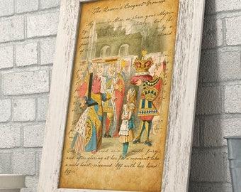 Alice in Wonderland - The Queen's Croquet-Ground - 11x14 Unframed Alice in Wonderland Print