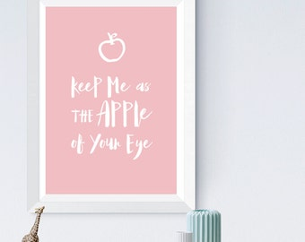 Apple | Wall Print | Children's Room | Kids Room Print | Wall Art | Art Print | Apple of Your Eye