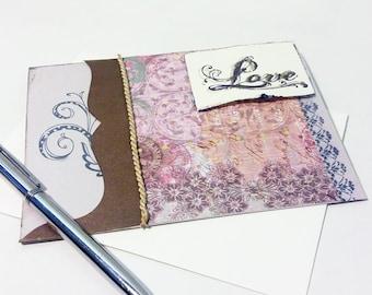 Love Card - Wedding Anniversary Card - Valentines Day Card - Valentine Card - Valentine's Card - Wedding Card - Handmade Greeting Cards