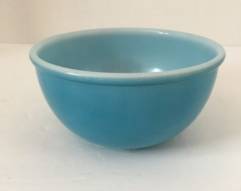 Fire King Mixing Bowl Solid Bright Blue Small Bowl Stacking Fireking  Anchor Hocking