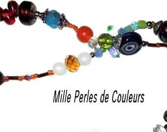 ღ NECKLACE NECKLACE with lampwork and murano glass beads / unique ღ