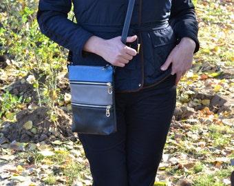 BLACK LEATHER HANDMADE Bag,Leather CrossBody Bag, Leather Handmade Purse, Leather Crossbody Purse, Leather Shoulder Bag, Leather I-pad Bag