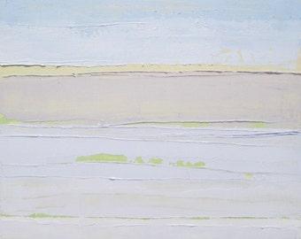 Abstract landscape painting: Serenity, original oil painting, abstract beach painting, ocean painting, vistas
