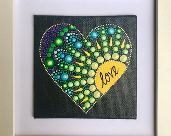 Small framed heart 5