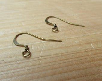 Hook earrings 17 mm bronze x 1