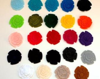48 gestanzte Filzblumen--ein Dutzend Blumen Sets - wählen Sie Ihre eigenen Farben