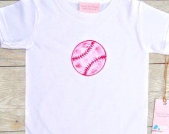 Children - Girl - Baseball - Softball - Toddler T-Shirt or Baby Onesie
