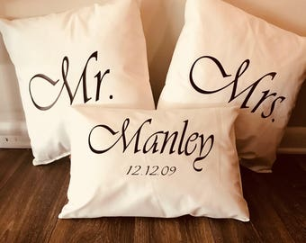 Mr. and Mrs. Pillow Set