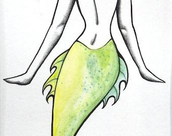 Mermaid with Orange Hair (Original)