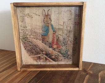 Peter Rabbit, Easter, for the home, easter decor, easter diplay, wood transfer, image transfer, for the kids,