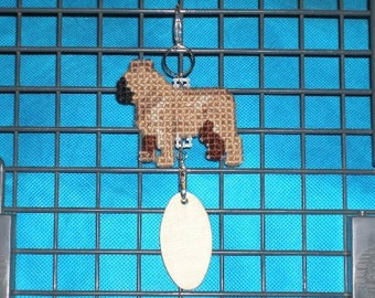 French Bulldog crate tag Frenchie dog art home decor hang anywhere, needlepoint by dog artist, Magnet option