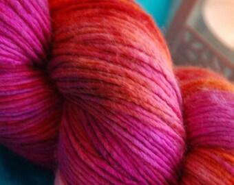handdyed yarn -  100g/3,5 oz. -  Colour Mumbai