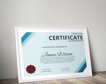 Multipurpose Certificate Word Template, DIY Certificate Template, Certificate of Appreciation, Instant Download