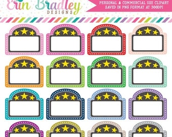 80% OFF SALE Movie Theater Clipart, Marquee Clip Art Graphics, Commercial Use OK