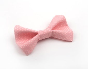 Pink Polka Dot Bow Tie, Pink bow tie, Pink pin dot bow tie, boy's bow tie, toddler bow tie, men's pink bow tie, adult bow tie, men's bow tie