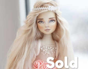 Handmade doll, Ooak doll, Exclusive doll, Rag doll, Collecting doll, Fabric doll, home decor, real doll, unique doll, beautiful doll