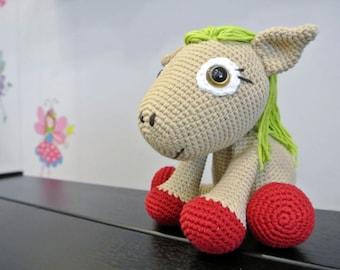 Leila Crochet Pony Amigurumi - Handmade Crochet Amigurumi Toy Doll - Pony Crochet - Amigurumi Pony