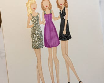 "Fuller House ""She Wolf Pack"" Fashion Sketch"
