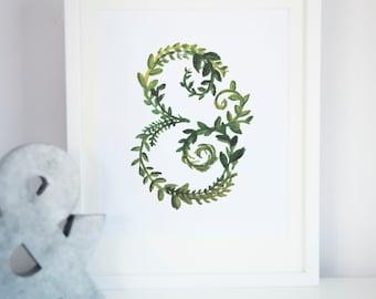 Spring Green Ampersand Print