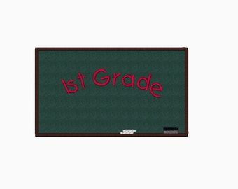 Chalkboard applique machine embroidery design.  Comes in multiple sizes.  Instant Download