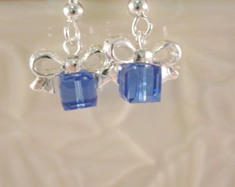 "The ""Birthday Package"" Earrings -Swarovski Crystals -  Birthstone Colors"
