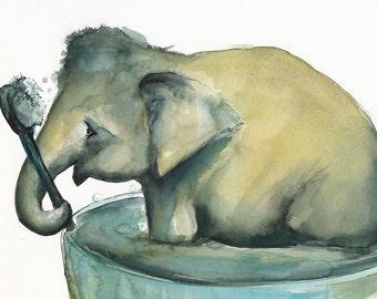 Dirty Elephant Archival Print