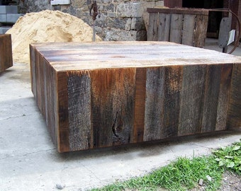 Rustic Chic Lobby Cubes / Floating Coffee tables from Reclaimed Barn Wood
