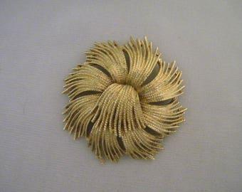 Vintage Monet Goldtone Fringe Pin Brooch 1963