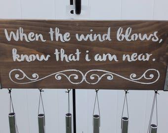 Custom Quote Wind Chime | Garden Decoration |