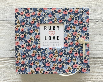 BABY BOOK | Rifle Paper Co. Rosa Floral Periwinkle Album