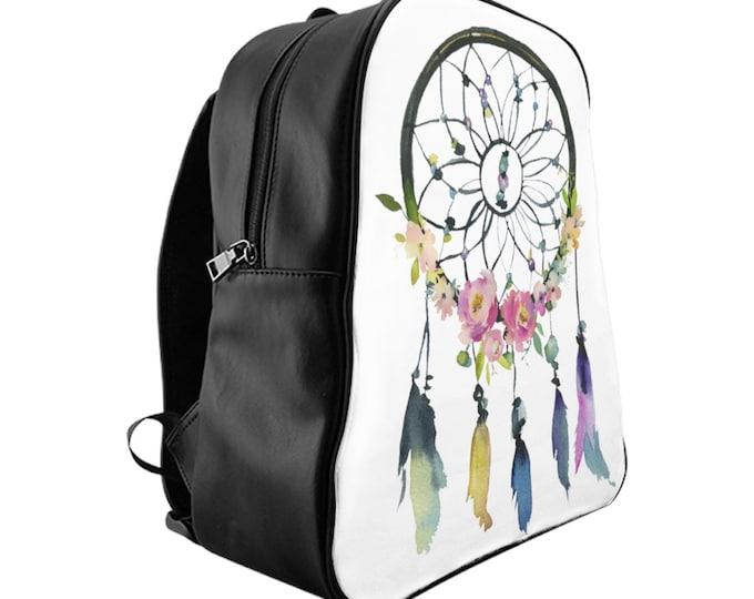 Featured listing image: School Backpack, Custom Printed Bag: Dreamcatcher