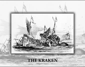 Poster, Many Sizes Available; Kraken Pierre Dénys De Montfort'S Giant Squid Sea Monster Mouse Mat