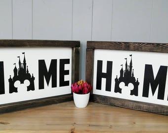Disney Wood Sign, Disney Castle Sign, Disney Home Sign, In This House Disney, Cinderella Sign, Disney Decor, Castle Disney, painted