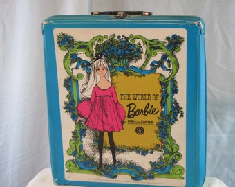 Vintage Barbie Doll Case, 1968 Mattel Barbie Case, The World Of Barbie Doll Case