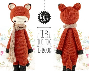 FIBI the fox • lalylala crochet pattern / amigurumi