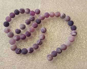 1 chapelet perles de 6mm perles-environ 44 de veine de Dragon pourpres