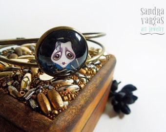 OOAK Sweet Edward Antique Brass Bracelet - Handcrafted by Sandra Vargas