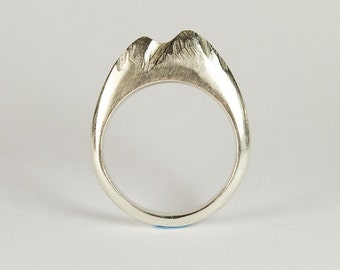 Sterling Silver Mountain Ring, Made to order