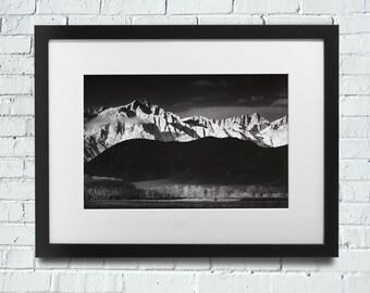 Ansel Adams, Winter Sunrise MATTED Photographic Print, 16x20, Ansel Adams Art, Ansel Adams Print, Fine Art Photography, Ansel Adams Giclee