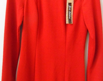 Vintage orange dress new with tags size 10