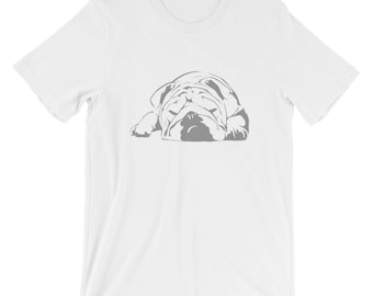 English Bulldog Sleeping T-shirt Dog Lover Tee