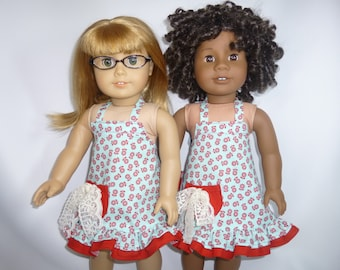 Retro apron for your American Girl Doll