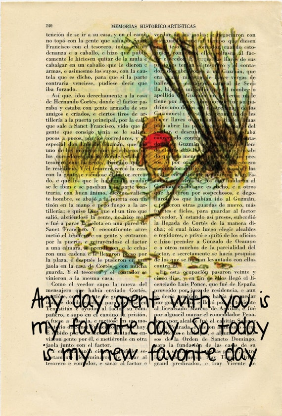 Winnie the Pooh Piglet old book page Art Print E H Shepard Art