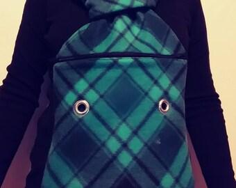 Teal plaid bonding scarf