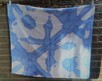 Tea Towels/ Kitchen Towels/ Burp Cloth - Ice dyed - blue