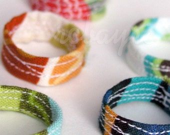 3 Quilted Fabric Rings